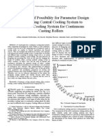 Calculation of Possibility for Parameter Design in Changing Central Cooling System to Revolver Cooling System for Continuous Casting Rollers