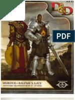 Murder in Baldurs Gate - Adventure Book