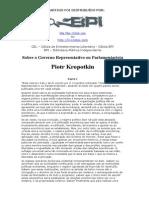 Sobre o Governo Representativo Ou Parlamentarista - Piotr Kropotkin - BPI