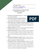 Planes, Programas y Proyectos Del DO. Curso 2009-10.