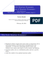 Week 1 Update Foundations of Monetary Economics