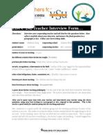 vsu educ 202 teacher interview form