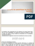 Criterio de Estabilidad de Routh-Hurwitz