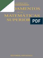 40330703 Fundamentos de Las Matematicas Superiores SHIPACHEV