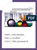 Chemistry Folio Manufacture Substance in Industry