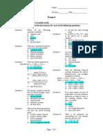 Exam 4 Sp07 Key