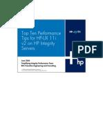 Top Ten Perf Tips. for HPUX