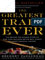 The Greatest Trade Ever by Gregory Zuckerman - Excerpt
