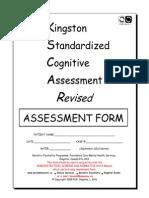 KSCAr Assessment Form