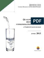 Rapport eau potable 2013