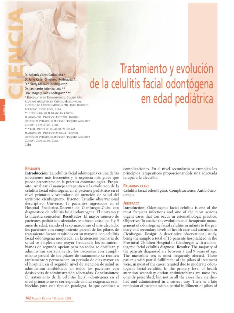 Celulitis facial en ninos pdf