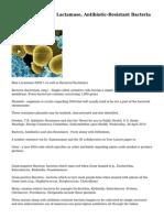 Superbugs, NDM 1 Lactamase, Antibiotic-Resistant Bacteria Facts
