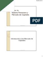 FINANZAS Sesion 16. Sistema Financiero y Mercado de Capitales (1)