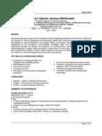 Resume Process Engineer May 2013
