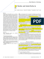 Bond Strength of Resilon and GP to Dentin