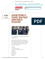 "KoreanIndo _ Album Jepang FT Island ""New Page"" Akan Dirilis Bulan Mei"