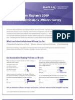 Kaplan Survey of Law School Admissions Officers 2009