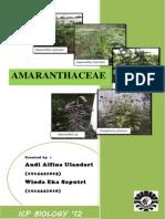 Familia Amaranthaceae Fix