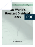 Bill Spetrino - The World's Greatest Dividend Stock