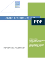Informe de Determinación de Cloro Residual-2