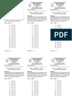 Formato de Evaluacion Opcion Multiple Para Examenes de Historia