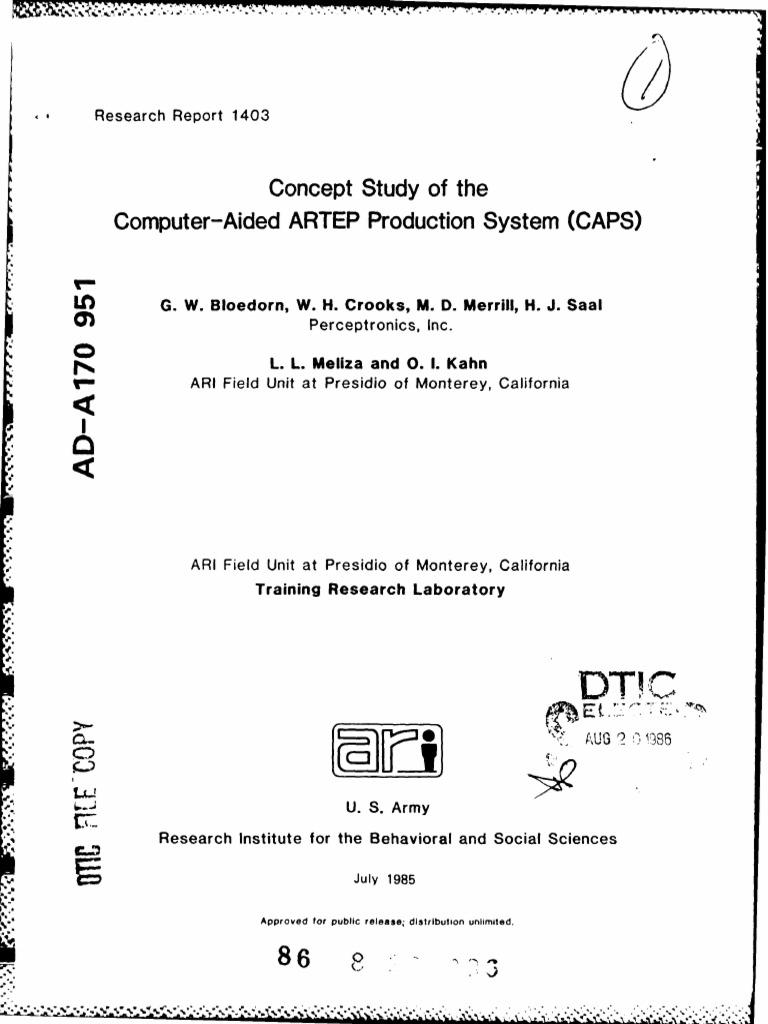 Cad Artep Study | Prototype | Databases