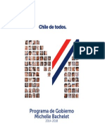 Programa de Gobierno 2014-2018 Michelle Bachelet