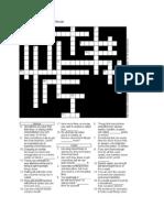 Time Management Crossword Puzzle