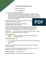 software evaluation outline