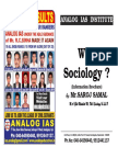 Why SOCIOLOGY an Information Bulletin