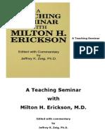 A Teaching Seminar With Milton H Erickson Copy