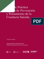 Guía de Práctica Clínica de Prevención y Tratamiento de La Conducta Suicida – Versión Resumida