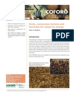 Units, conversion factors and formulae for wood for energy