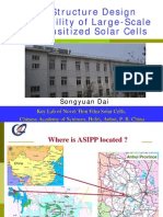 The Structure Design and Stability of Large-Scale Dye-Sensitized Solar Cells