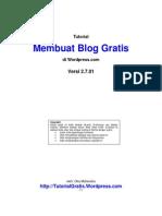 Tutorial Membuat Blog Gratis Di Wordpress Com Backup