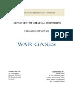 War Gas  Report