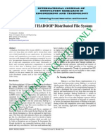 IJIRET Vivekanand S Reshmi Significance of HADOOP Distributed File System
