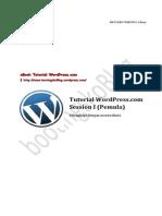 Tutorial Wordpress Com Session i Pemula