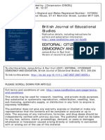 [Vol55N3] Arthur and Croll (2007) Editorial (BJES) Citizenship Democracy and Education