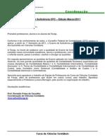 Exame CRC - 1° Edicao - 2011 - Bacharel - FECAP (1)