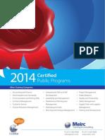 2014 Certified Programs 28Nov