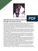 Thakur Shri Shri Sitaramdas Onkarnath & Ma Saraswati Sen