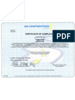 Linda H. Flax DUI Counterattack Certificate of Completion