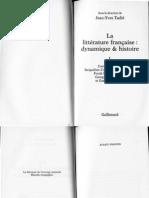 Tadie, J.-y., Dir.(2007), Litterature Francaise - Preface