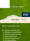 Anaesthesia during Labour by Adnan Akram pdf