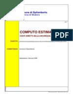 7_Computo Metrico Estimativo - Costi Diretti Sicurezza