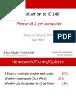 Information Engineering IE 148 Week 1a
