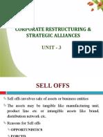 Corporate Restructuring and Strategic Alliances