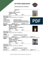 public arrest report for  532014
