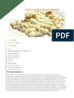 Gnocchi Noci e Crema Di Parmigiano